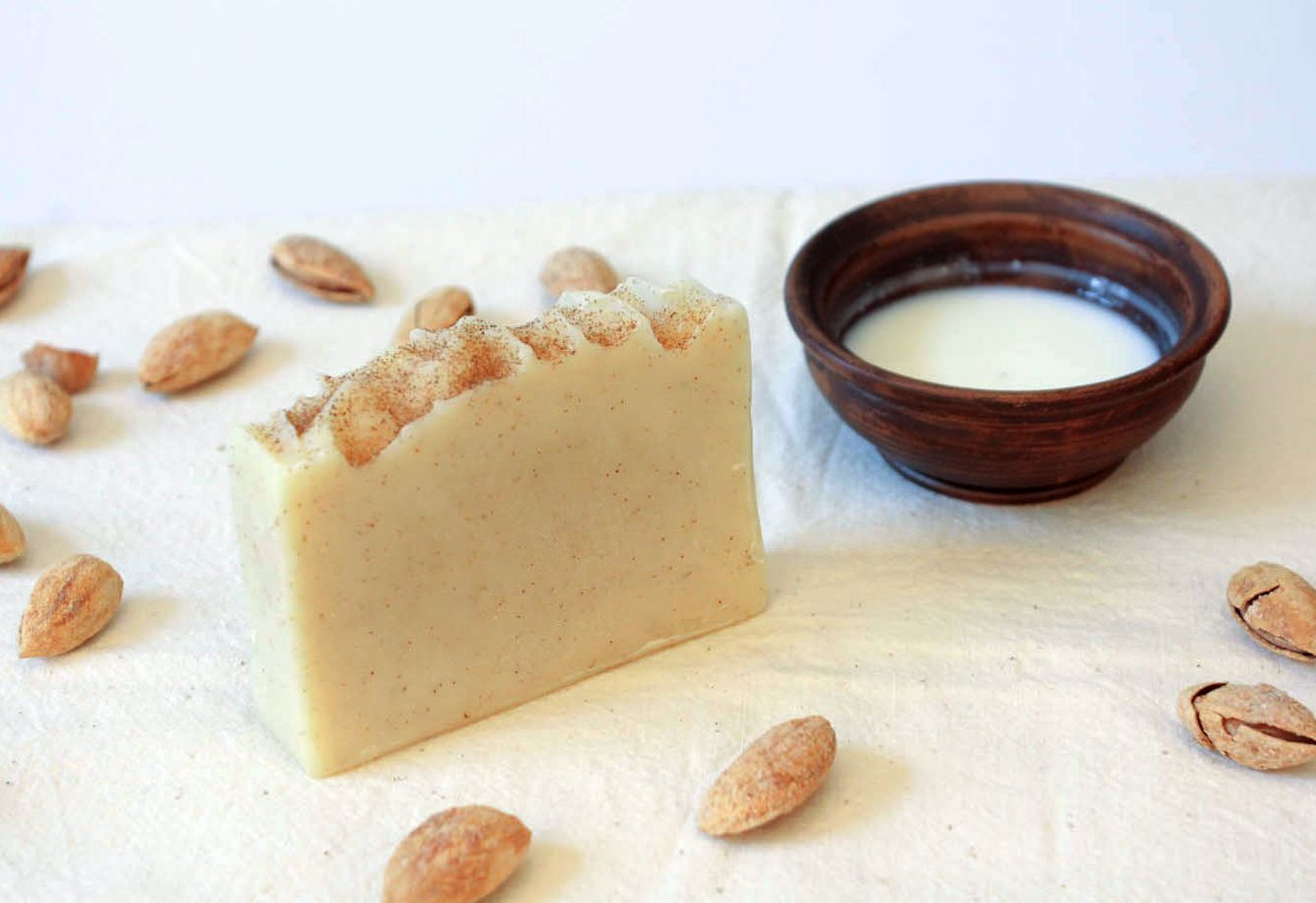 Handmade soap Almonds and goat milk photo 5