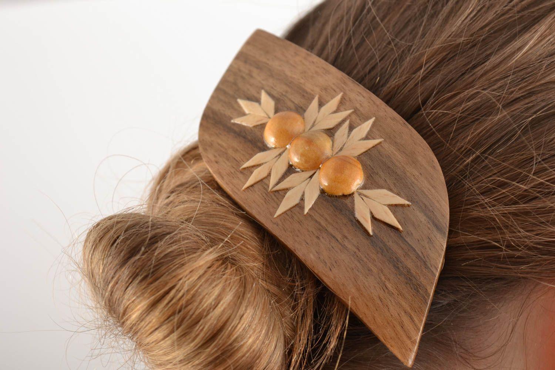 madeheart barrette cheveux pratique insolite en bois faite main accessoire pour femme. Black Bedroom Furniture Sets. Home Design Ideas