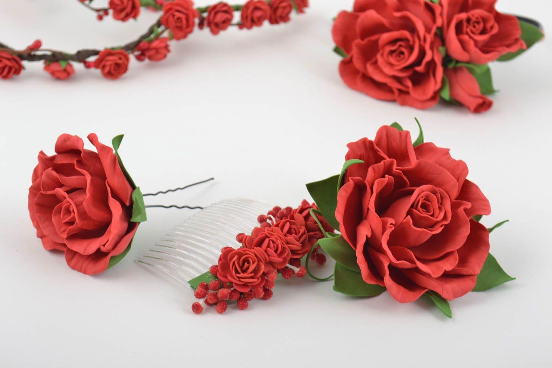 Boho Rose Foamiran Hair Clip