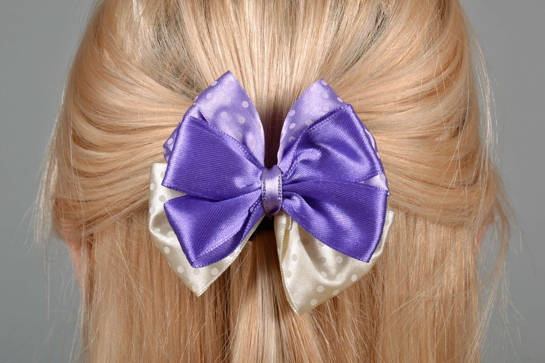Hair clip Violet Bow photo 1