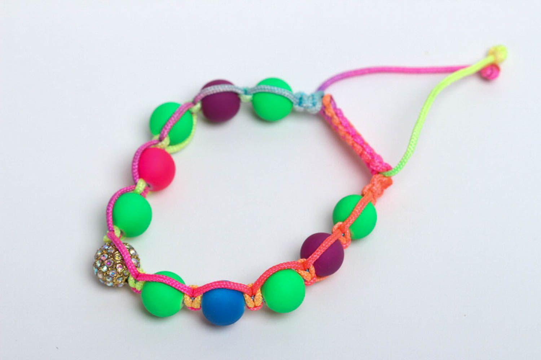 Handmade beaded bracelet summer bracelet interesting jewelry stylish accessories photo 2