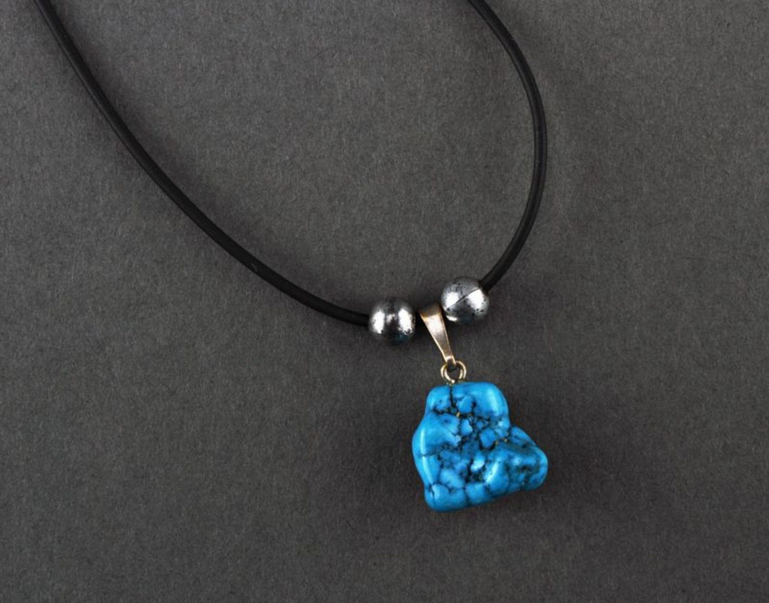 Pendant with turquoise photo 1