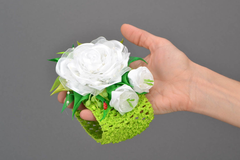 Headband White Rose photo 2
