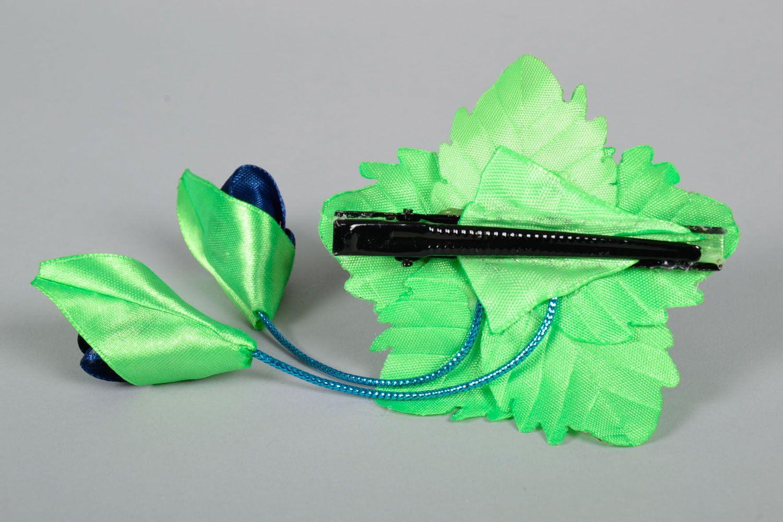 Hair clip Blue Rose photo 4