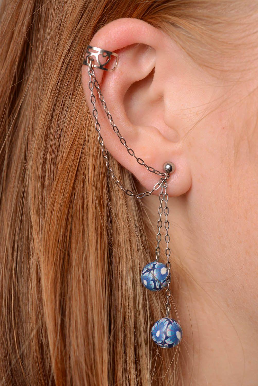 Tender cuff earrings Blue Horizon photo 3
