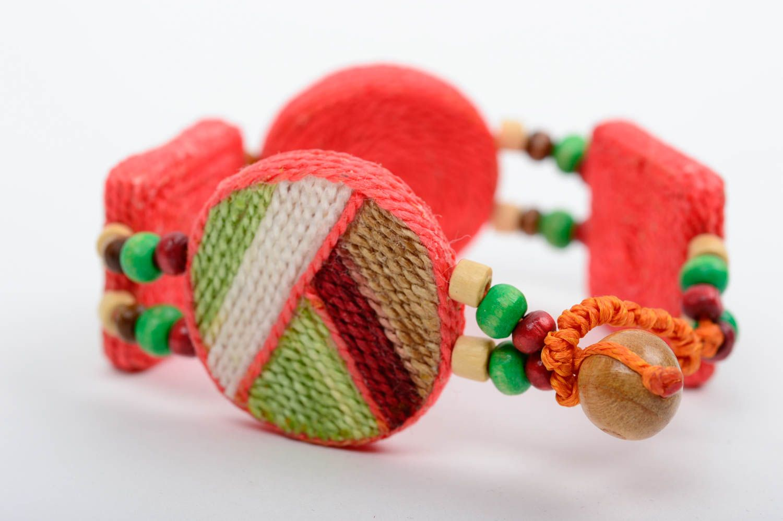clay bracelets Unusual handmade ceramic bracelet thread bracelet cool jewelry designs - MADEheart.com