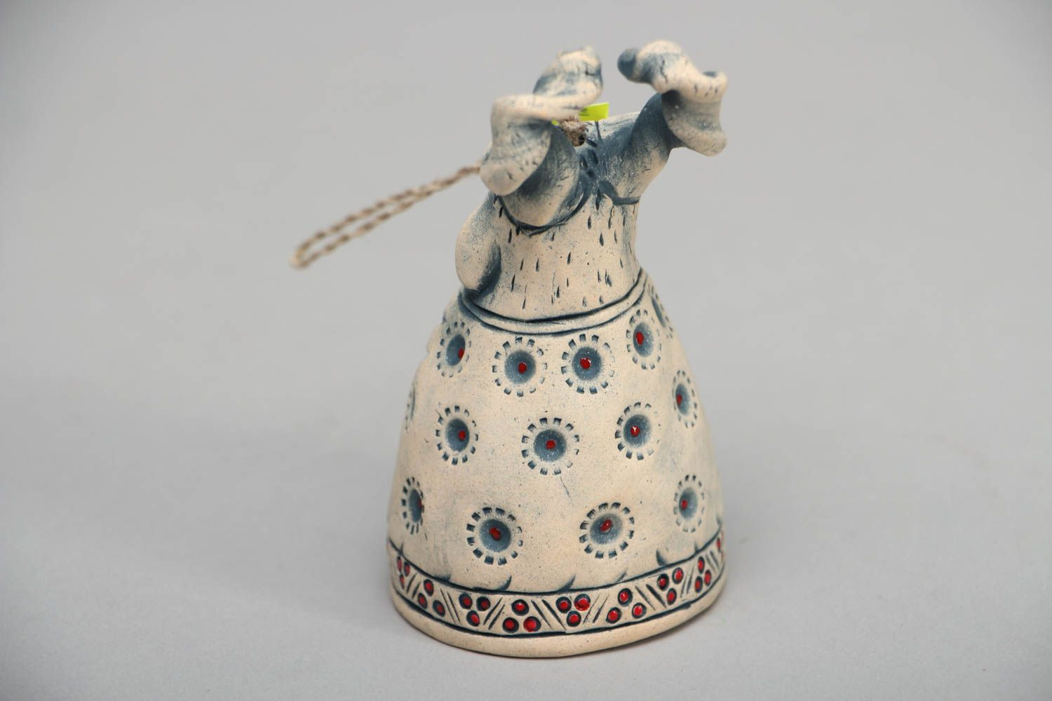 Beautiful designer ceramic bell in the shape of goat photo 3