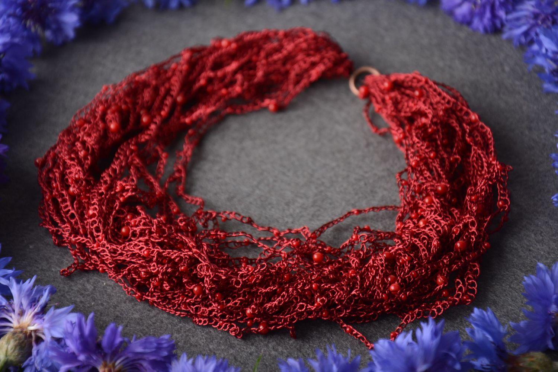 ea2976da2b3c joyería de Tela Collar hecho a mano de hilos bisutería de moda tejida  accesorio para mujer