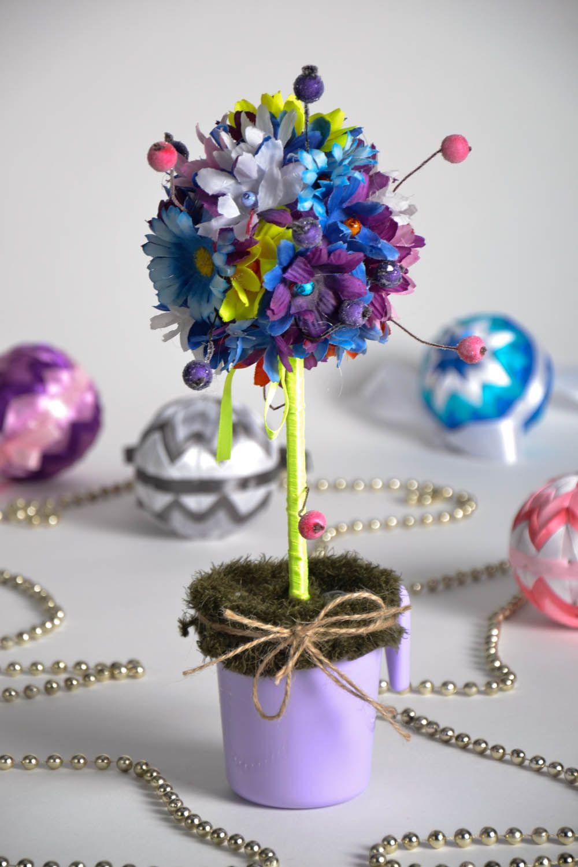 Как сделать цветочный топиарий своими руками
