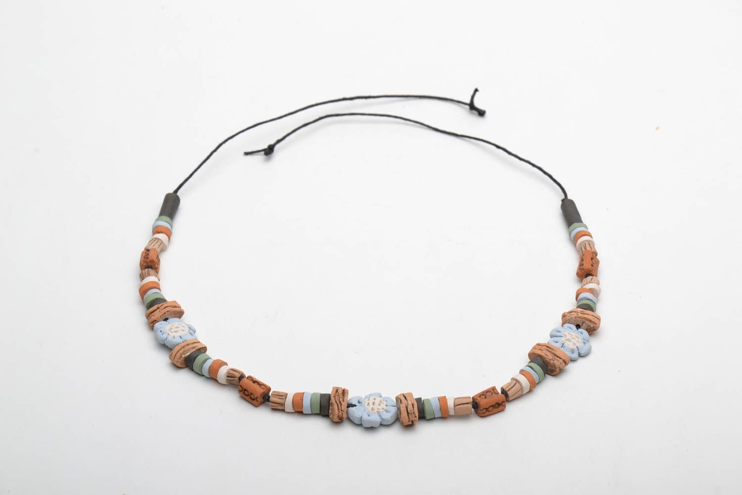 Beautiful ceramic necklace photo 4