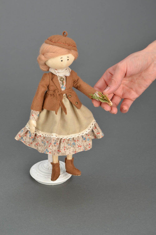Handmade doll on stand photo 2