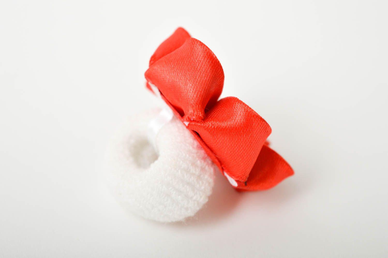 Handmade designer hair tie unusual flower accessory elegant cute hair tie photo 5