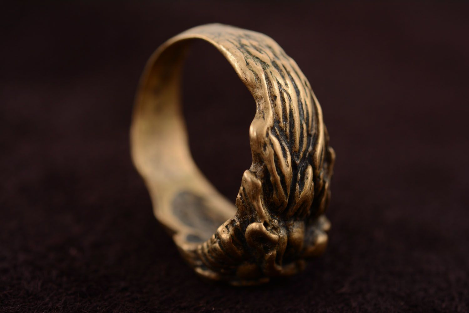 Bronze ring Scandinavian Lion photo 5