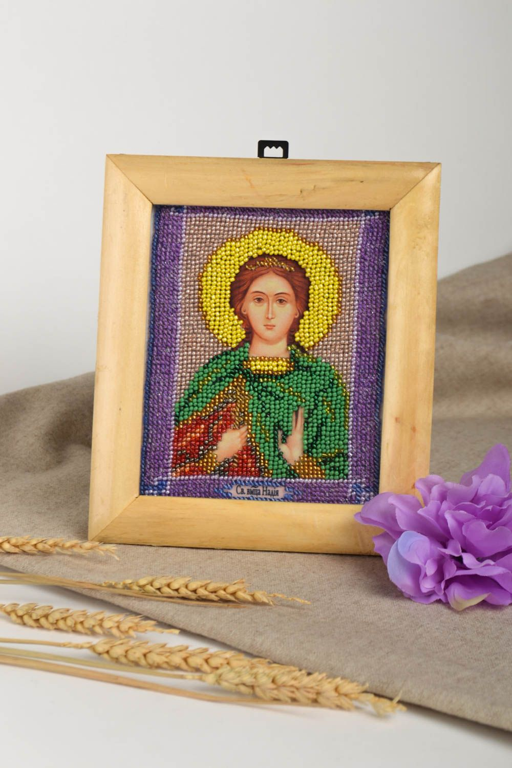 Handmade icon personal icon unusual gift Orthodox icon gift for women photo 1