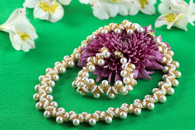 Stylish handmade jewelry set beaded necklace bracelet designs fashion trends photo 1