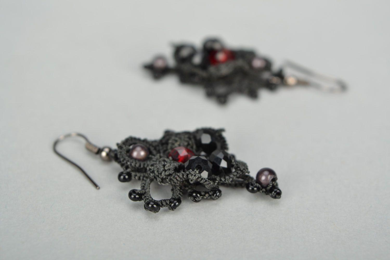 Handmade lacy earrings photo 3