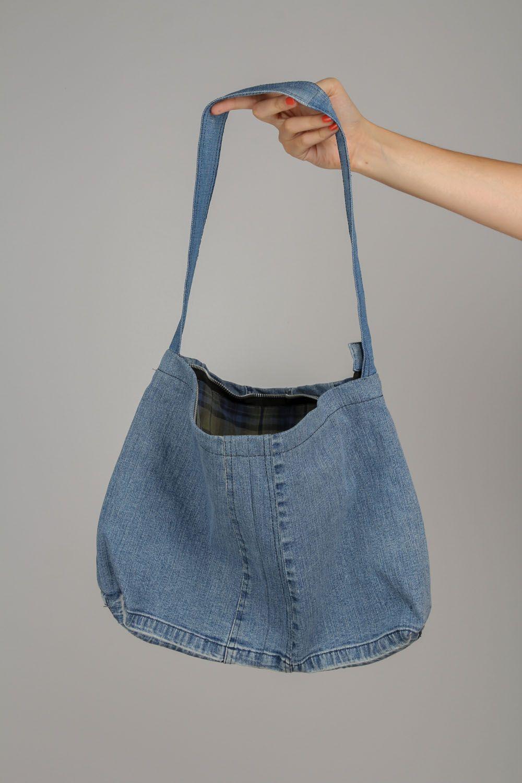 sito affidabile 91e98 b3e2d Borsa in jeans fatta a mano borsetta originale accessorio bello da donna