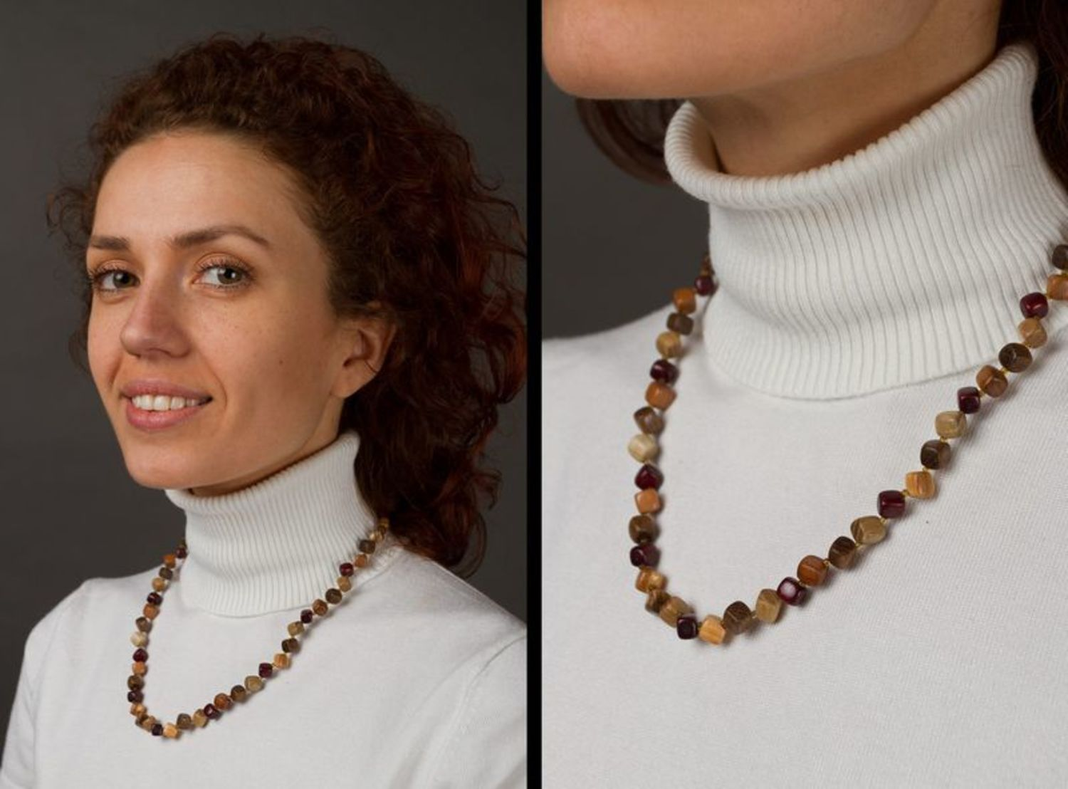 Wooden bead necklace photo 2