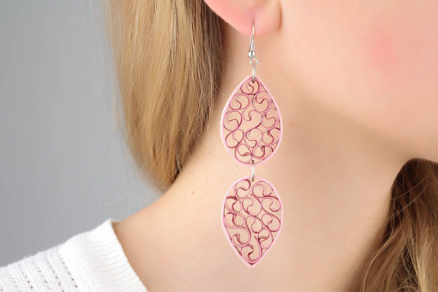 Paper earrings photo 1
