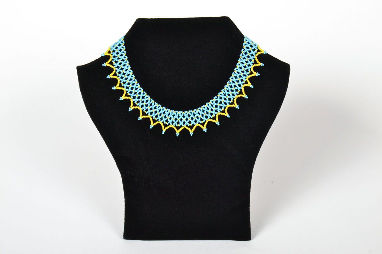 Bright beaded necklace photo 1