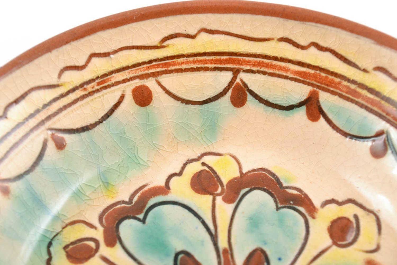 MADEHEART > Decorative handmade wall plate with glaze painting small ...