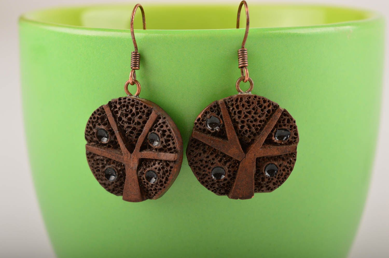 Ceramic jewelry handmade earrings gifts for women fashion accessories photo 4