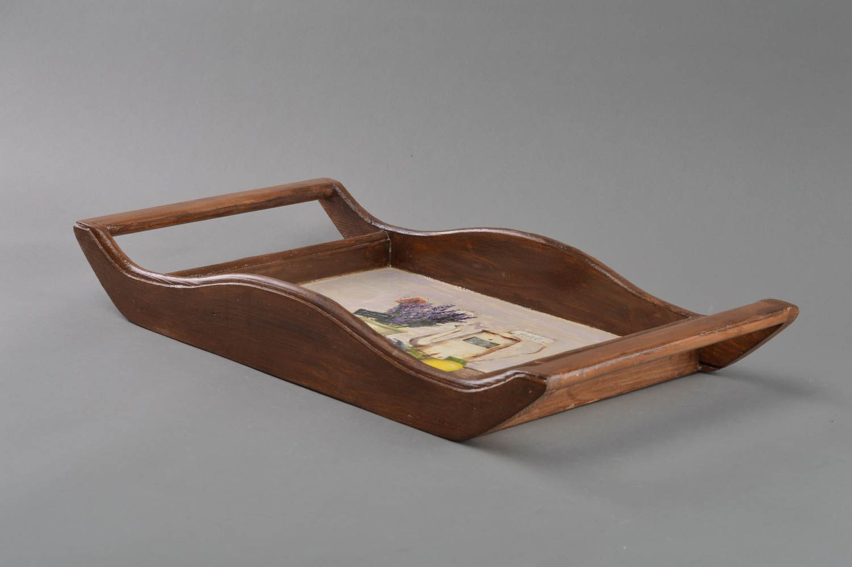 Cookware Dining Bar New Wooden Serving Tray 24cmx13cmx 11cm Whit Heart For Decoupage Home Furniture Diy Quatrok Com Br
