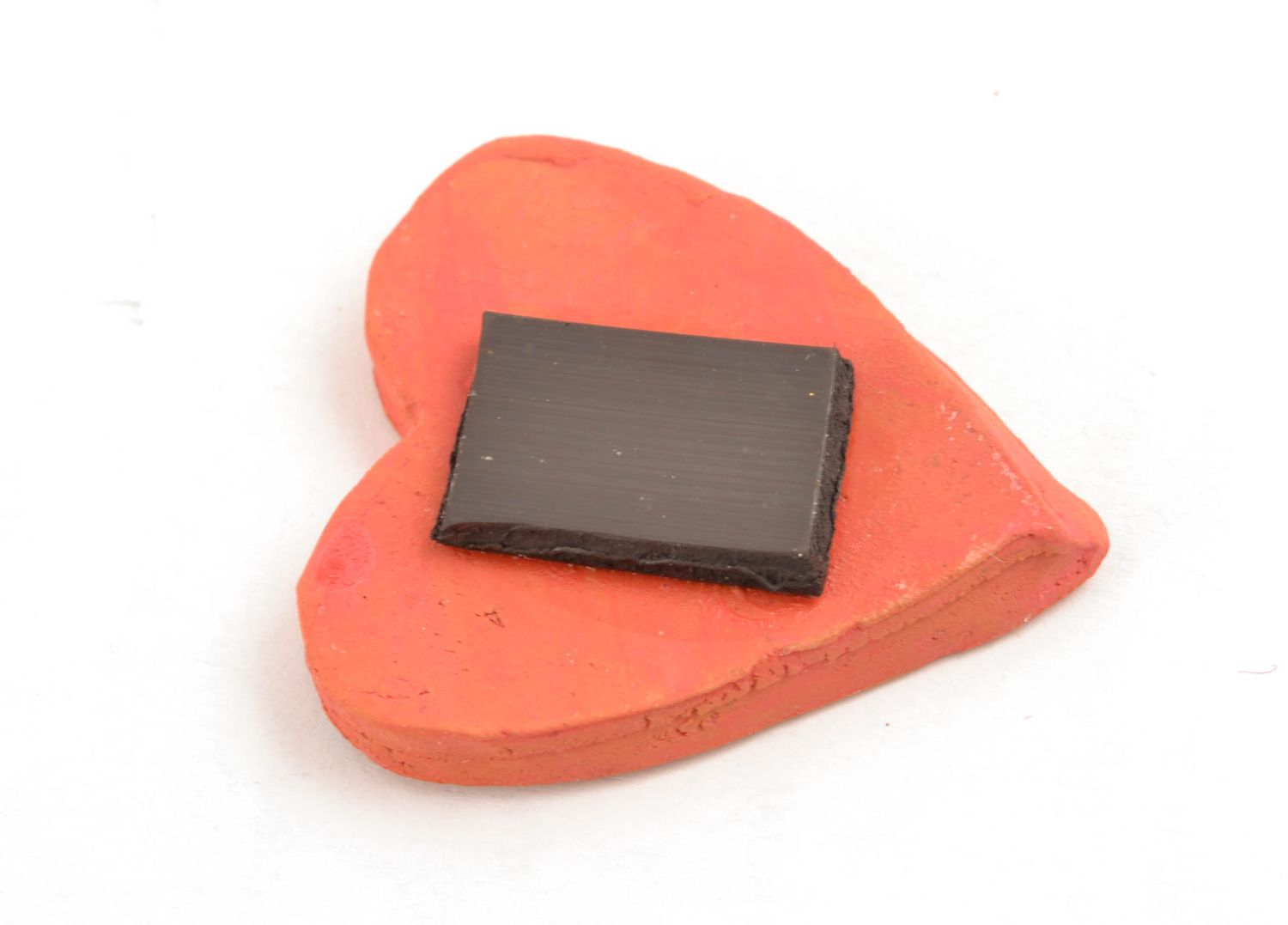 Heart shaped clay magnet for kitchen decor photo 5