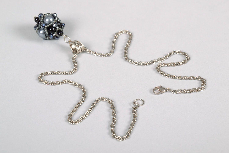 Pendant made of Czech beads photo 5