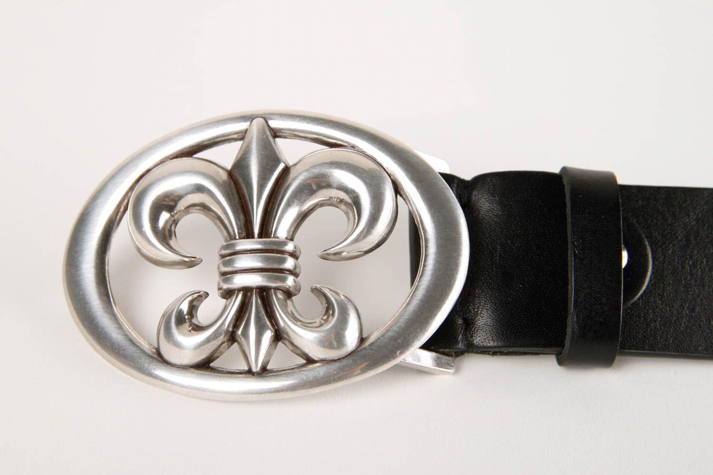 Handmade belt designer accessory for men gift ideas unusual belt black belt photo 5