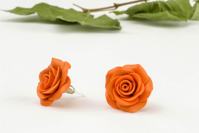 Flower-shaped earrings photo 1