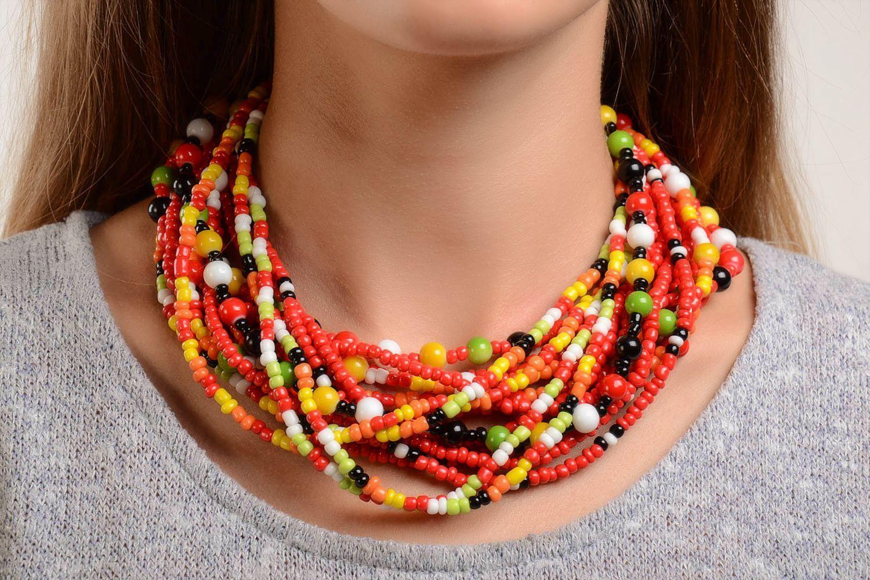 7d8d0ccf007b Collar artesanal de abalorios regalo original para mujeres bisutería de moda