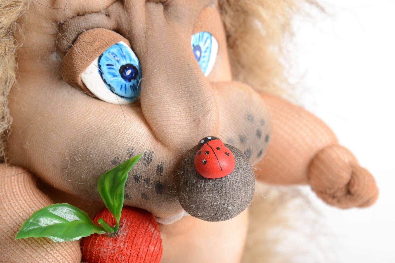 Handmade fabric soft toy stuffed toy fabric toy rag doll home design photo 3