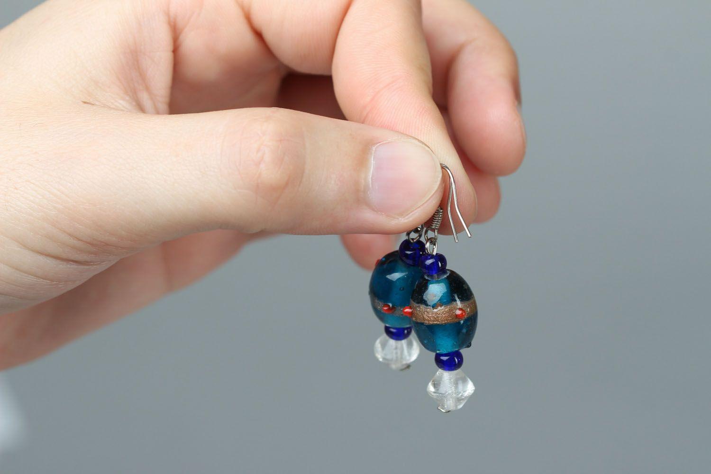 Glass earrings photo 3