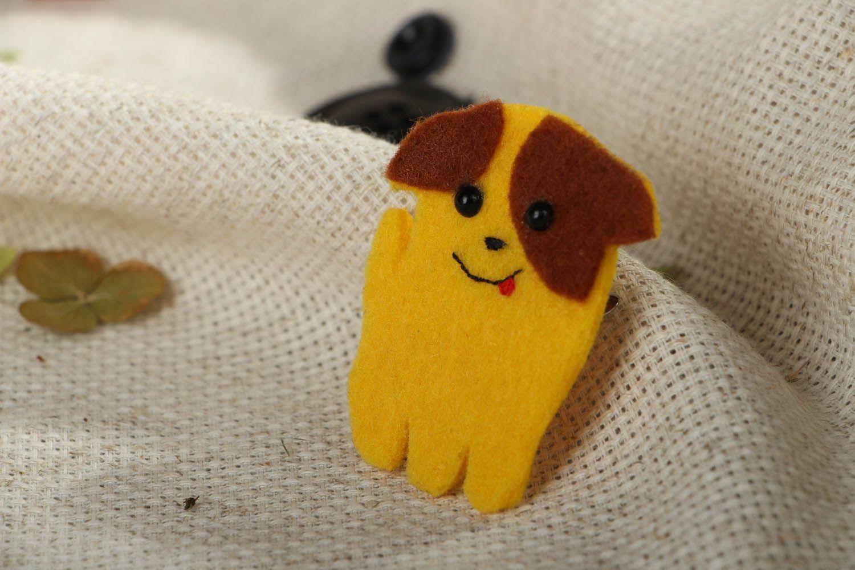 Hund Brosche aus Filz  foto 5