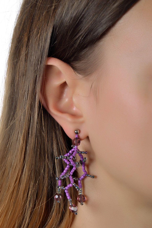 Beaded earrings Neon Pearl photo 5