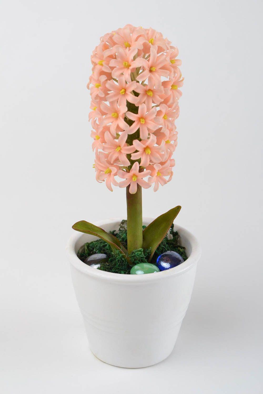 madeheart composition florale fait main fleurs en pot jacinthe p che d coration maison. Black Bedroom Furniture Sets. Home Design Ideas