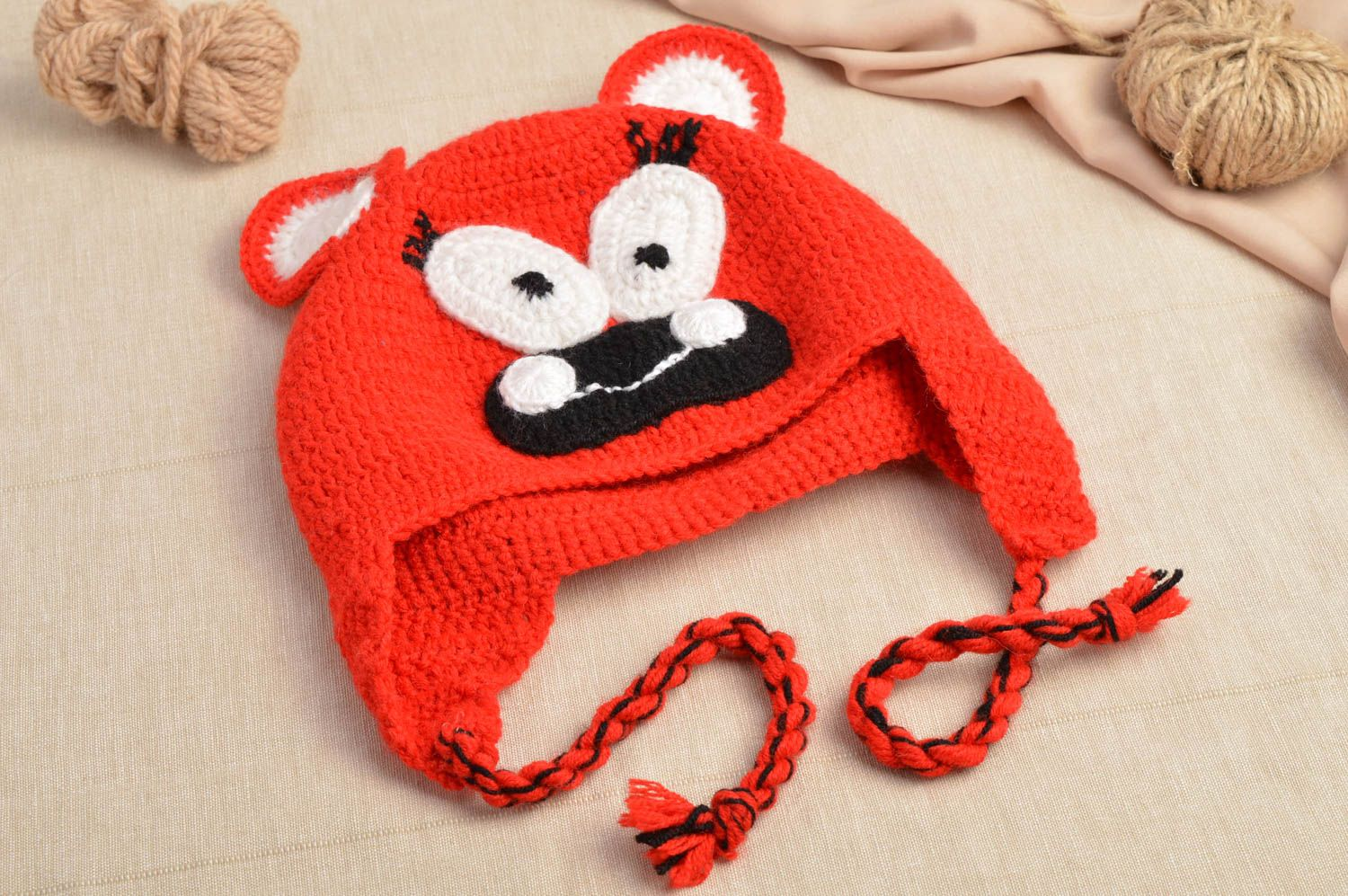 502ae047789 Notice  Undefined variable  cat in  home newmadeheart prod cache . Funny hat  handmade crochet baby ...