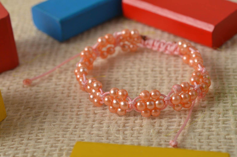 8a4b7cafa536 pulseras de abalorios Pulsera hecha a mano de cordones bisutería artesanal  regalo para niñas - MADEheart