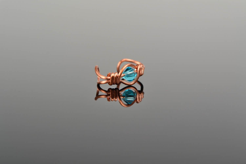 Ear cuff, wire wrap foto 1