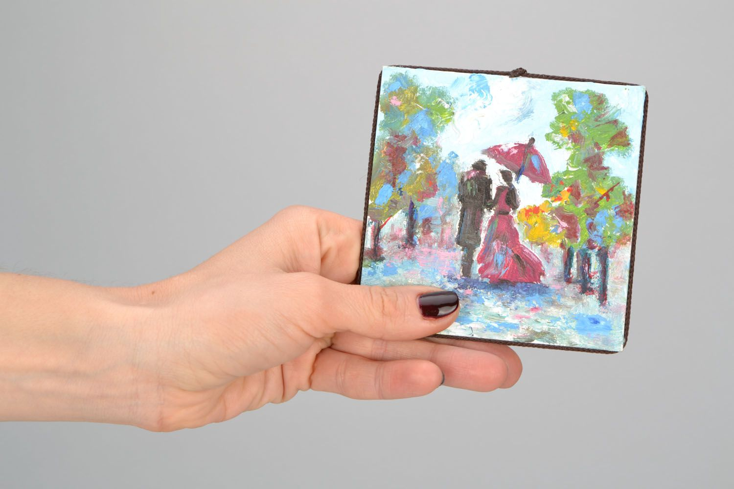 Fridge magnet with a picture photo 2