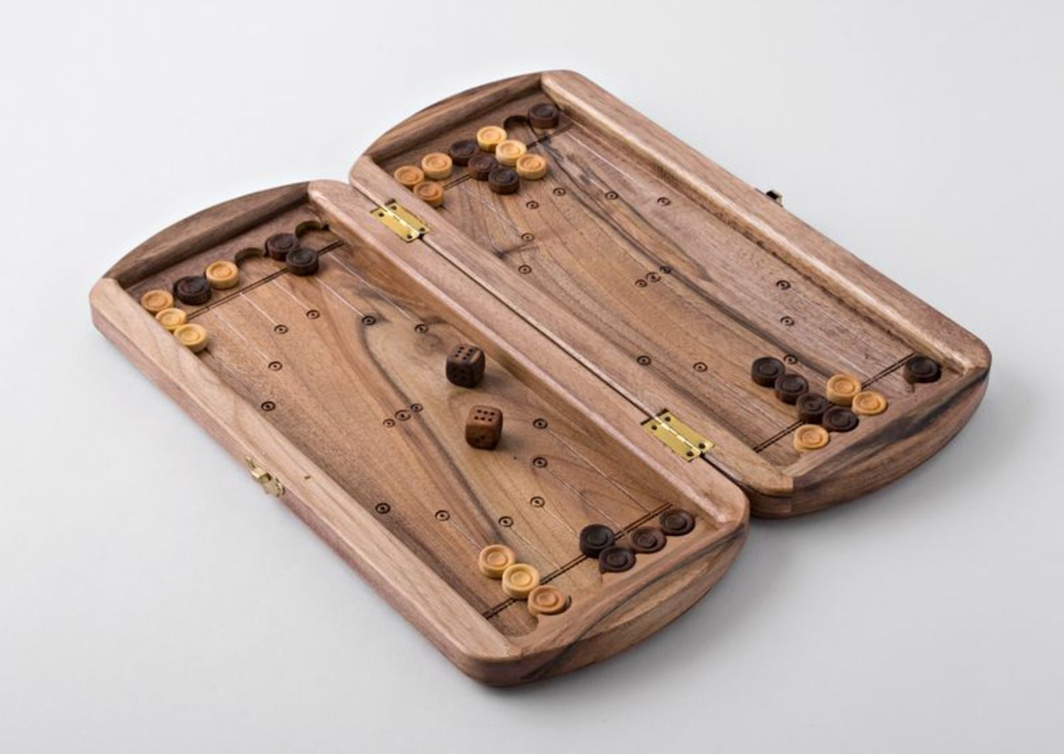 Wooden hand carved backgammon photo 3