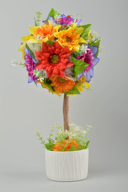 топиарий Дерево ручной работы яркое дерево из искусственных цветов декор для дома - MADEheart.com