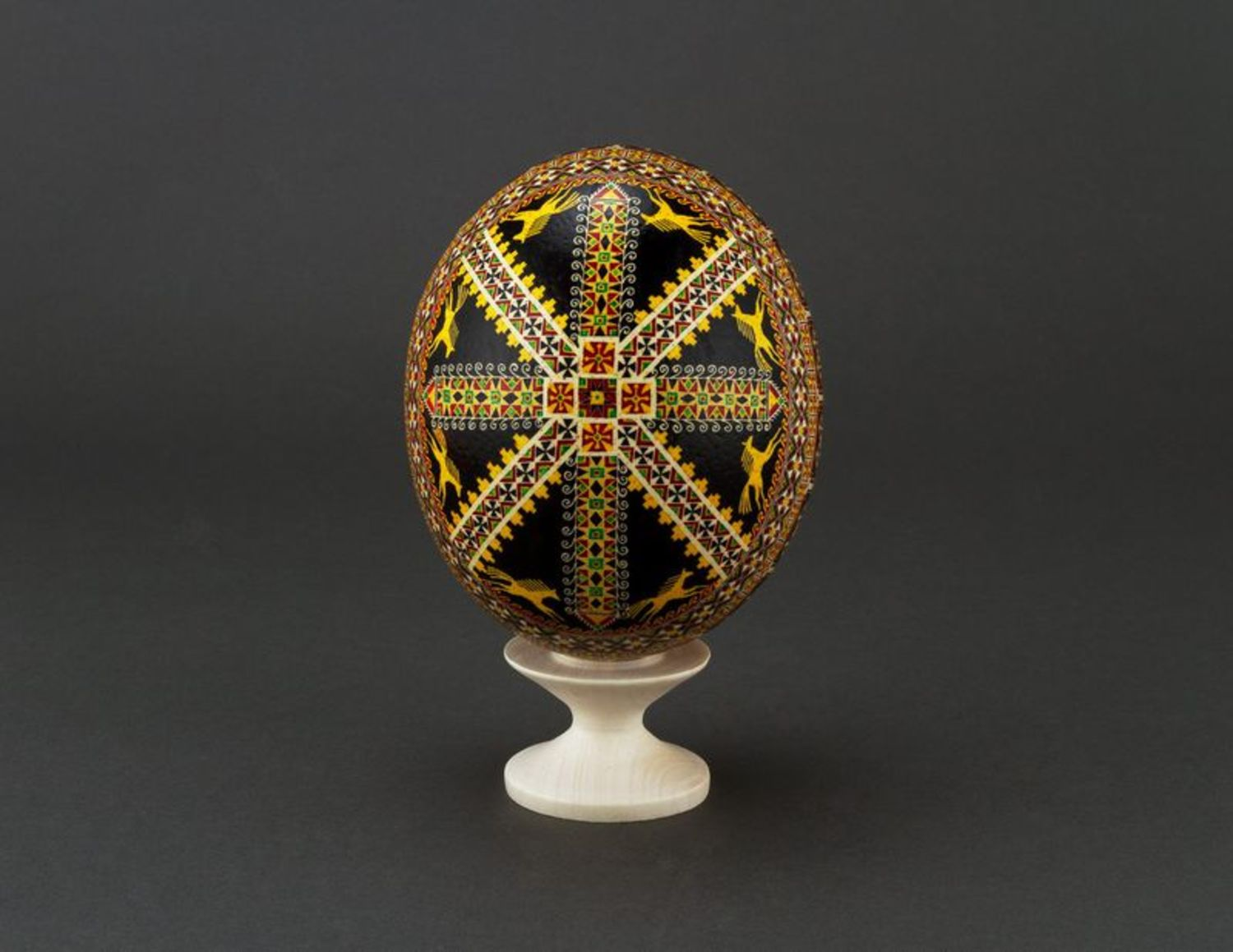 ostrich easter eggs Pysanka made of ostrich egg - MADEheart.com
