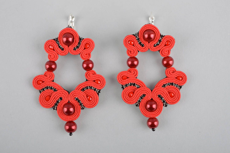 Unusual handmade soutache earrings beaded earrings artisan jewelry designs photo 3
