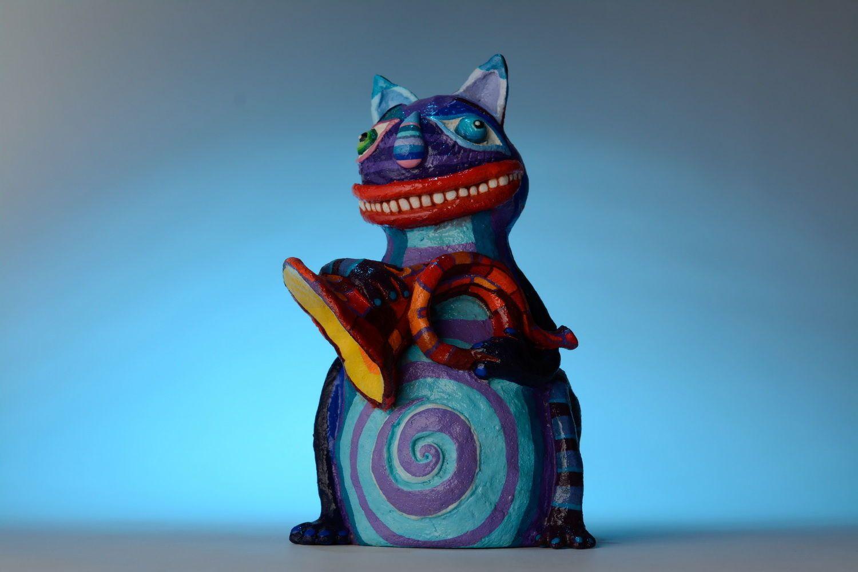 Hucha Gato con trompeta foto 5