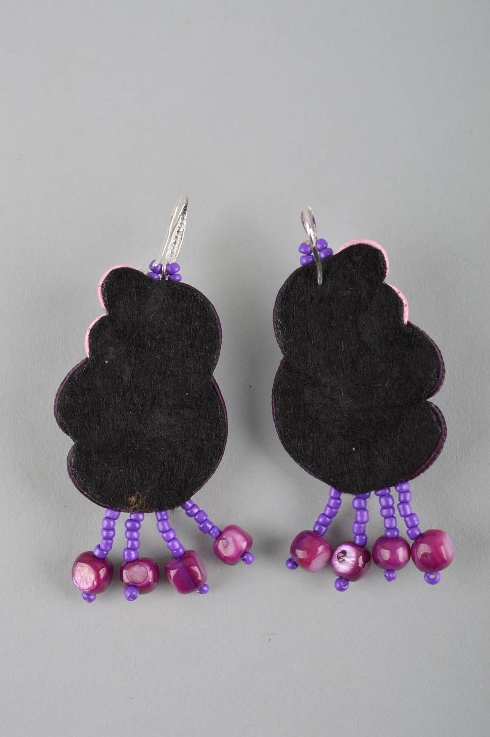 Large handmade soutache earrings textile earrings beaded earrings gift ideas photo 3