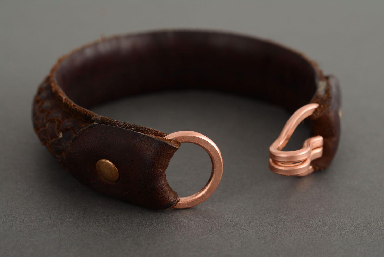 Leather braided bracelet photo 2