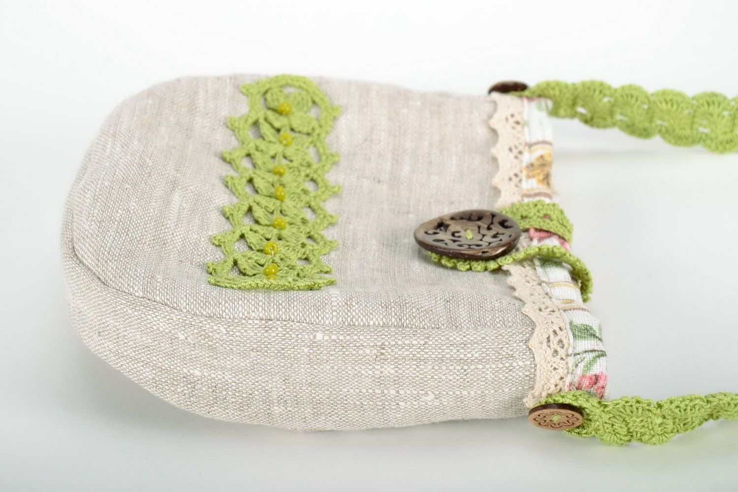 Bag made from flax and cotton  photo 2