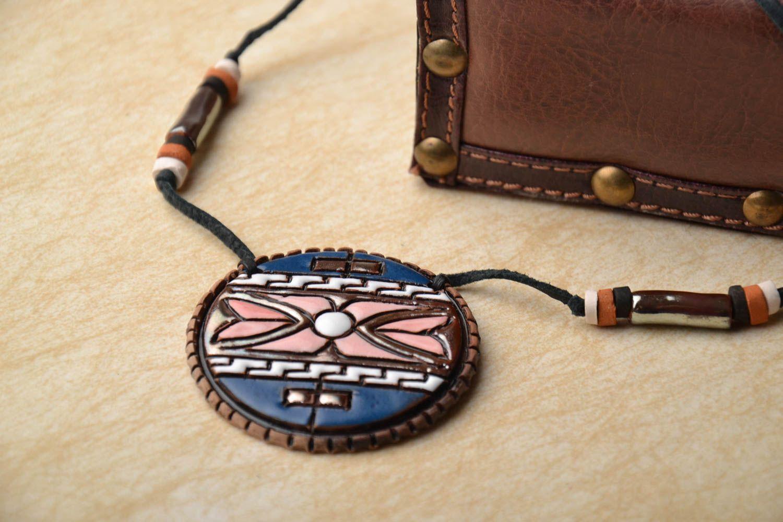 Керамический кулон в этно стиле фото 1